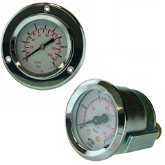 pressure and vacuum gauge - panel mounting
