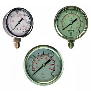 pressure and vacuum gauge - filled